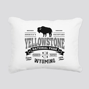 Yellowstone Vintage Rectangular Canvas Pillow